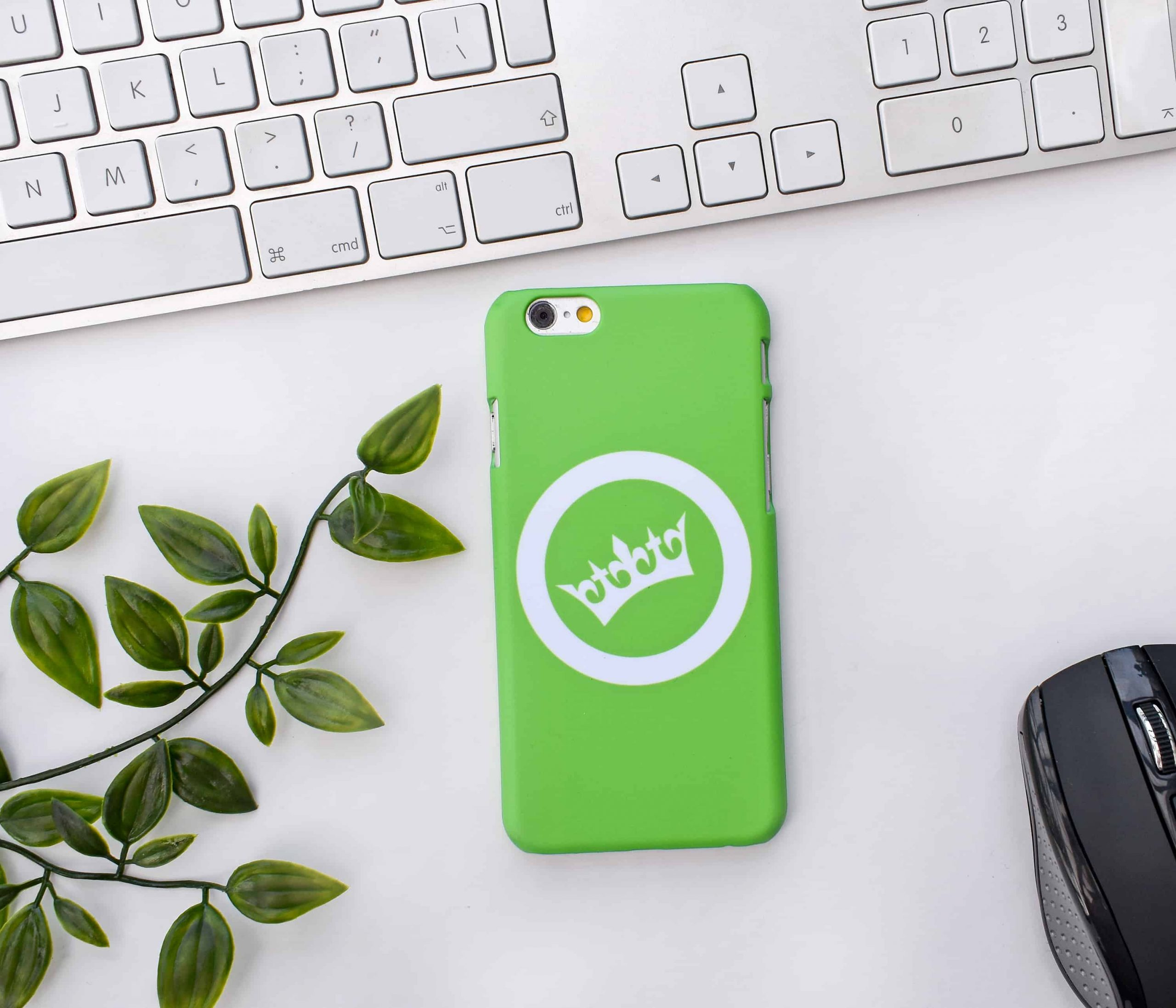 Fully printed case with company logo