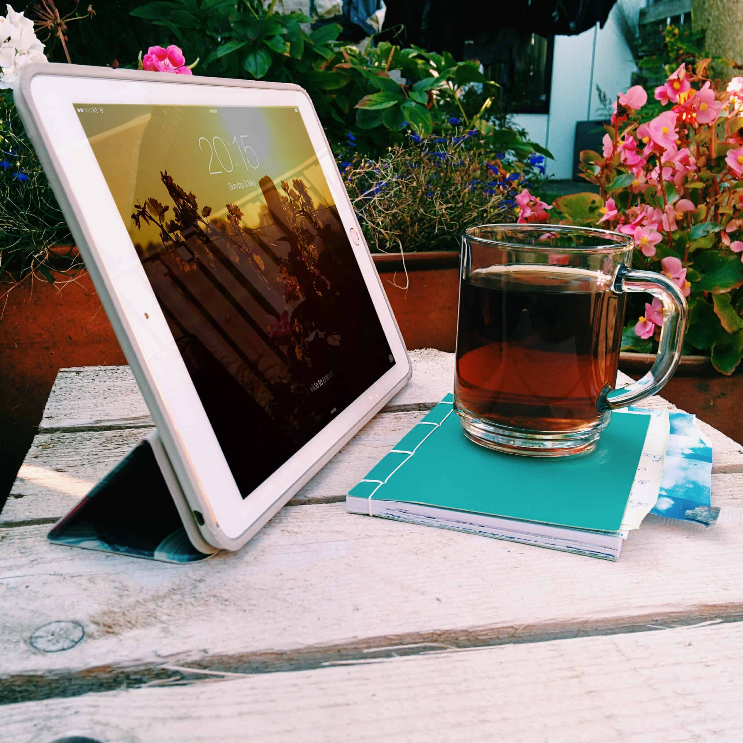 Smart case for iPad in use