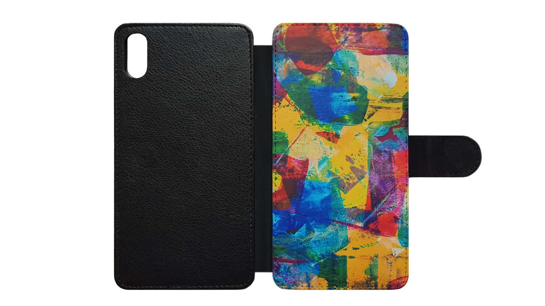 Front printed wallet case complete product overview