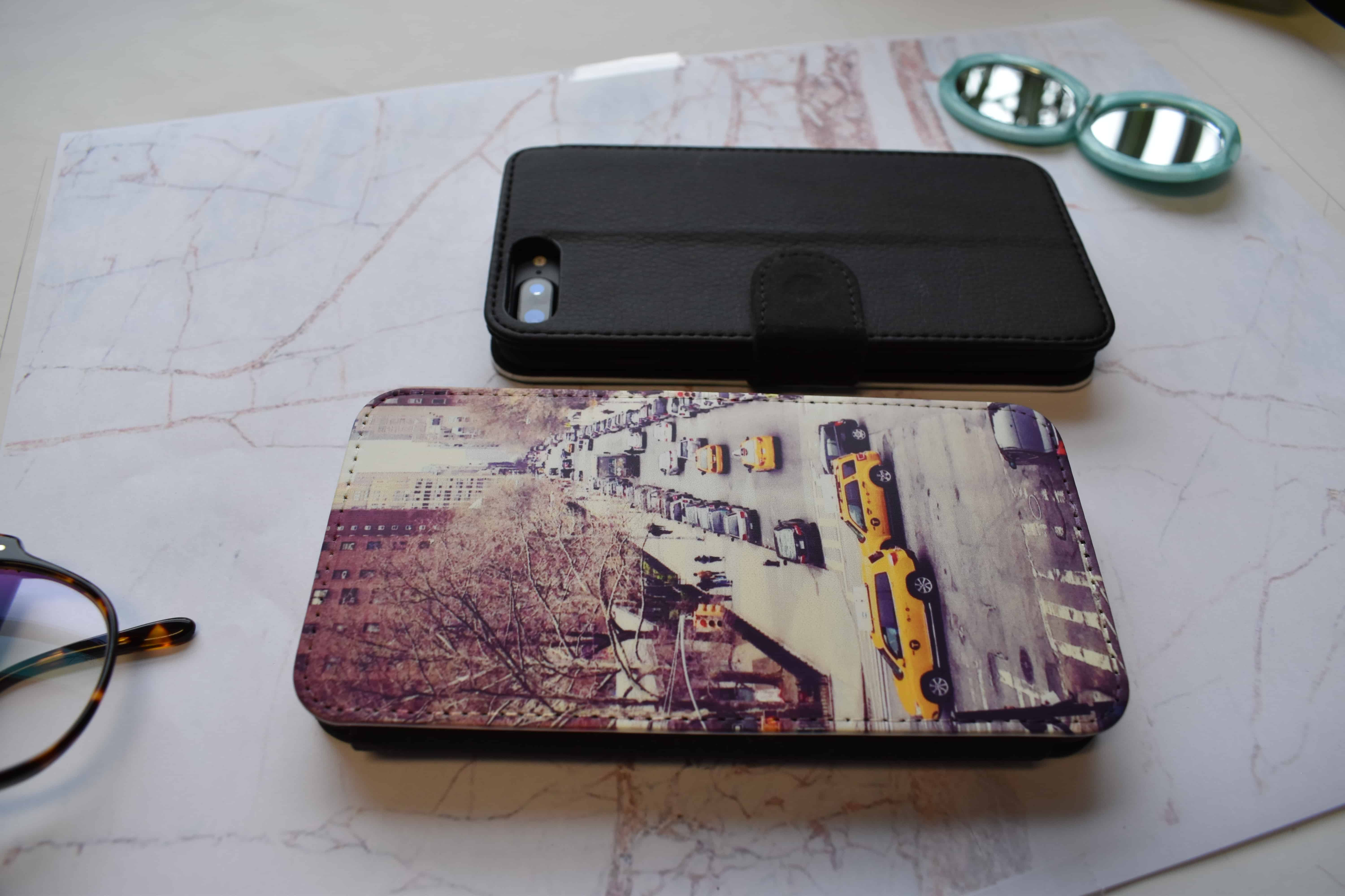 Front printed wallet case