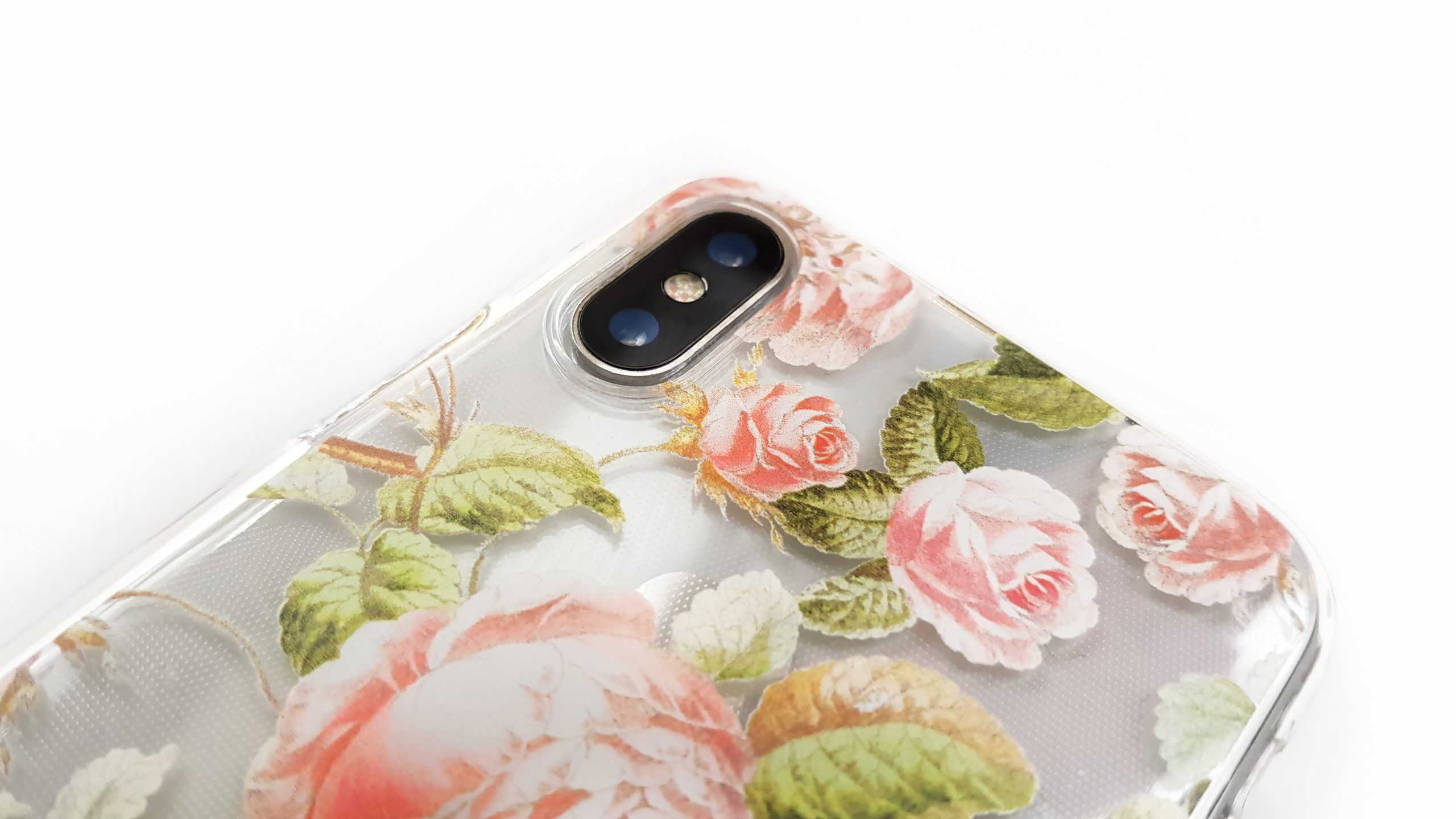 detail phone casse print with transparency