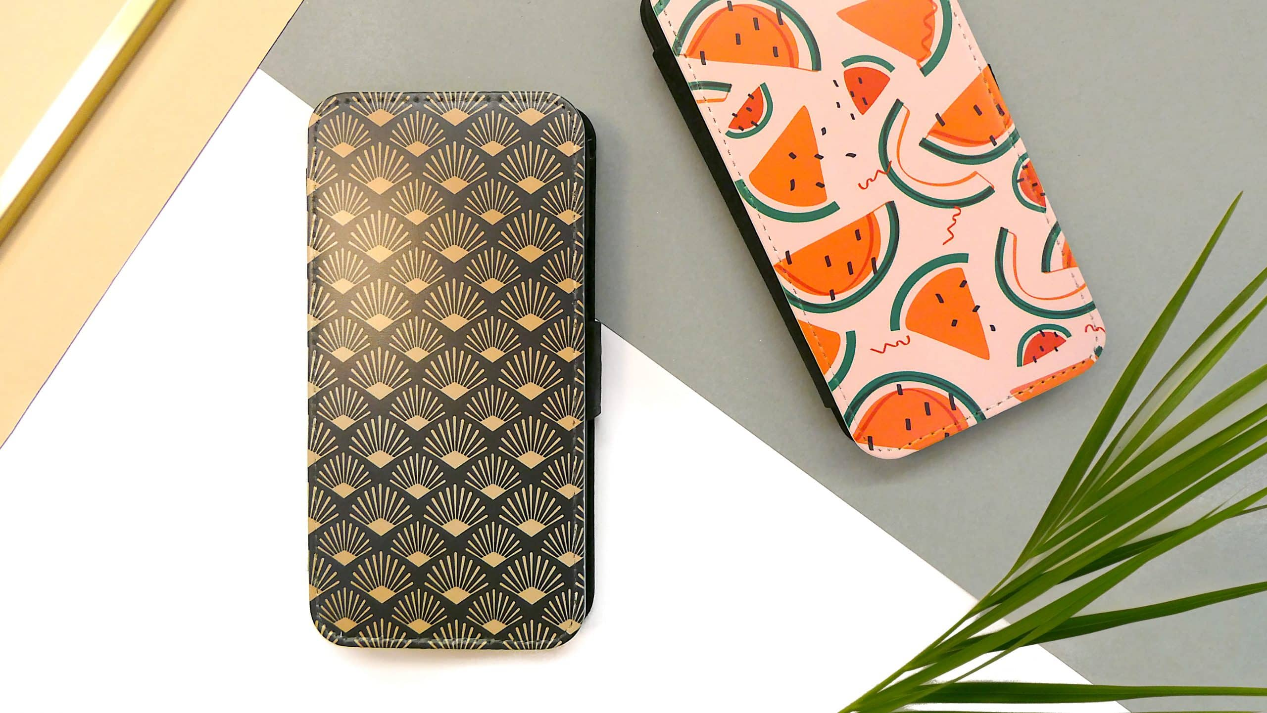 Front printed wallet cases