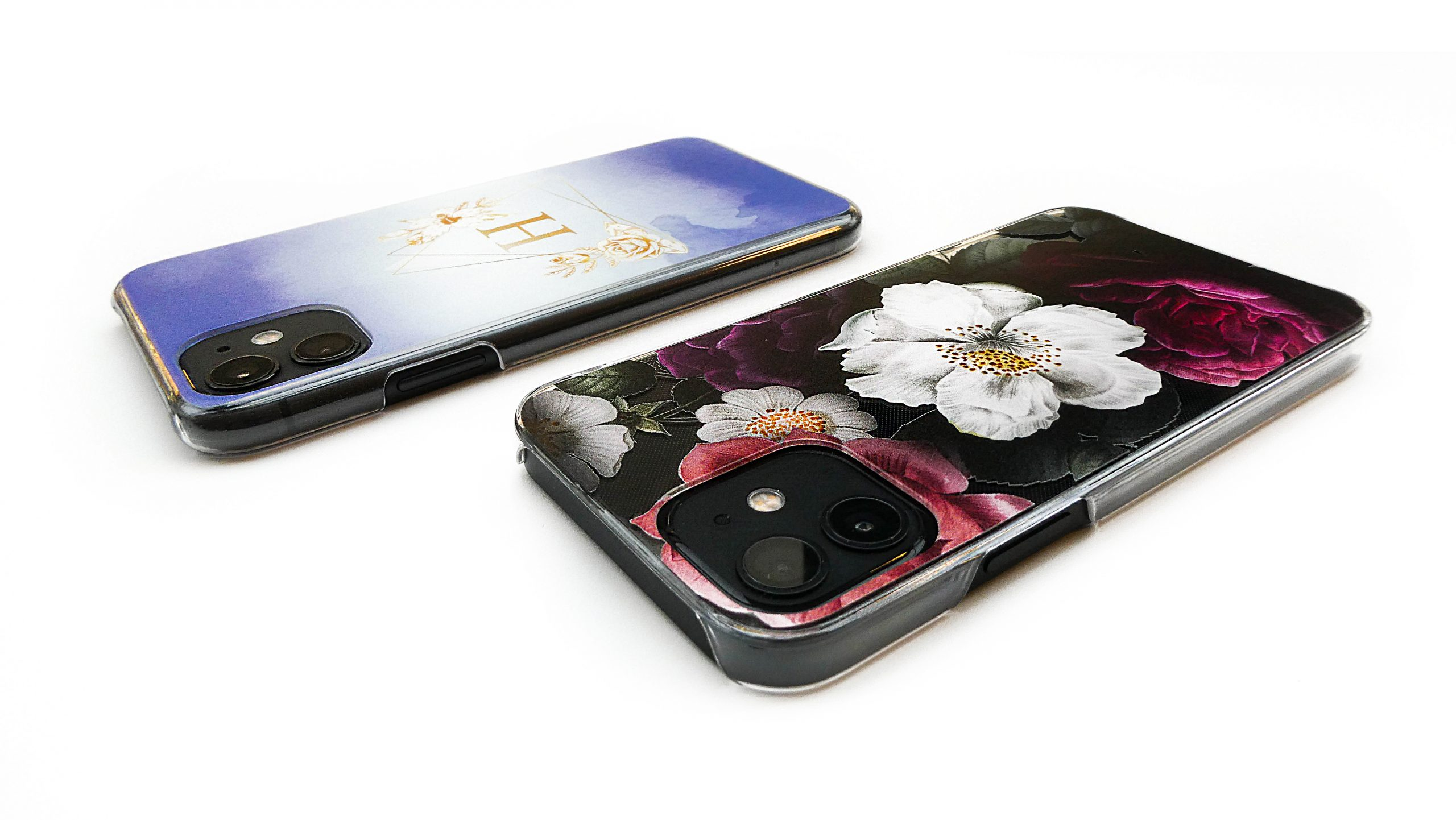 custom back printed phone cases (transparent, black and hard cases)